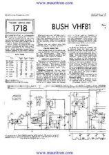 Buy BUSH VHF81 Wireless SERVICE SHEETS by download Mauritron #324888