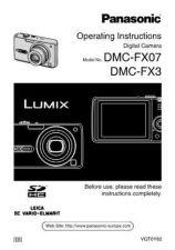 Buy Panasonic DMC-FX3------- Manual by download Mauritron #298730