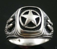 Buy Texas Star Silver bullet Pistolero ring Sterling Silver