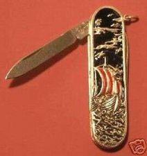 Buy Viking Dragon ship Gents Sterling Silver pocket knife