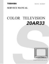 Buy Toshiba 20AR33 TV Service Manual by download Mauritron #323003