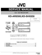 Buy JVC KD-SHX850 Service Manual Circuits Schematics by download Mauritron #275247