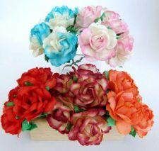 Buy 50 CUTE MIXED ARTIFICIAL MULBERRY PAPER BIG FLOWER WEDDING SCRAPBOOK DAI 2.5 CM