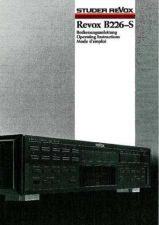 Buy Revox B226-S Operating Guide by download Mauritron #312231