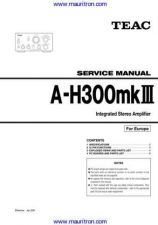 Buy Teac AG-H300mk3 Service Manual by download Mauritron #327173