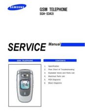 Buy Samsung SGH-S342i Mobile Phone Service Manual by download Mauritron #306426