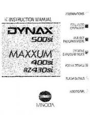 Buy Konica Maxxum 400siManual-Part1 Camera Operating Guide by download Mauritron #320752