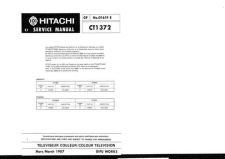 Buy Hitachi CT2033B-2 Service Manual by download Mauritron #289517