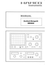Buy Hameg HM8040 d e f s Operating Guide by download Mauritron #307267