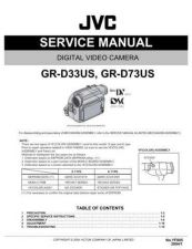 Buy JVC GR-D33-73 Service Manual by download Mauritron #280585