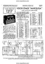 Buy VIDOR CN431 Vintage Service Sheets by download Mauritron #329005