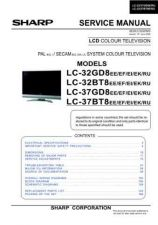 Buy Sharp LC-37BT8EF LCD TV Service Manual by download Mauritron #327066