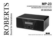 Buy Roberts SOUND 23 DAB Radio Operating Instruction Guide by download Mauritron #306687