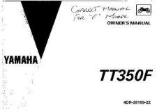 Buy Yamaha 4DR-28199-22 Motorcycle Manual by download #334242