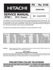 Buy Hitachi PA0155 Service Manual by download Mauritron #323256