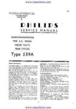 Buy PHILIPS 539A Technical by download Mauritron #315686