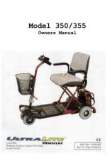 Buy Mobility Scooter ULTRALITE MODEL350 Operating Guide by download Mauritron #325122