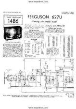 Buy FERGUSON. 627U. Vintage Wireless. Service Sheets. by download Mauritron #327468