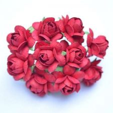 Buy 50 MULBERRY PAPER ARTIFICIAL RED ROSE HEAD FLOWERS LOT CRAFT WEDDING 2.5 cm./1""