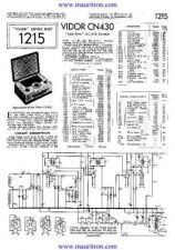 Buy VIDOR. CN430 Vintage. Service Sheets. by download Mauritron #315275