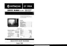 Buy Hitachi CT1905-1 Service Manual by download Mauritron #284987