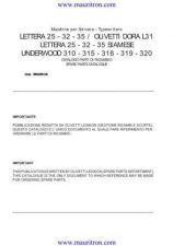 Buy OLIVETTI. Lettera 25 by download Mauritron #315006