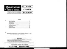 Buy Hitachi VP7X2 CHASSIS Service Manual by download Mauritron #285612