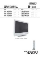 Buy Sony KDL26 32 40S2000 Service Manual by download Mauritron #332945