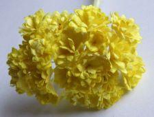 Buy 100 Yellow Mulberry Paper Flower Mini Embellishment Craft Scrapbook Decorate 1cm