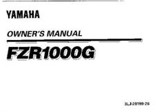 Buy Yamaha 3LJ-28199-26 Motorcycle Manual by download #334139