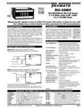 Buy Texmate DU-35MV DU10 L1-31-06 Instructions by download #336515