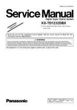 Buy Panasonic TD1232DBX(SUP10) Manual by download Mauritron #302158