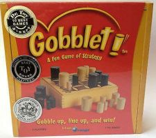 Buy new - Gobblet Fun Family game of strategy 2 Player wooden board Blue Orange NEW