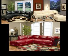 Buy Black White Red Kayson Contemporary Sectional Couch 5 Pc Set Chaise