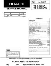 Buy Hitachi VTM133A Service Manual by download Mauritron #287316