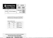 Buy Hitachi CT1930 Service Manual by download Mauritron #289455