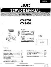 Buy JVC KD-S730 Service Manual Circuits Schematics by download Mauritron #275158
