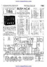 Buy BUSH. AC41. VINTAGE WIRELESS. SERVICE SHEETS. by download Mauritron #327305