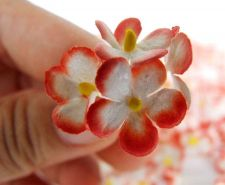 Buy 200 ARTIFICIAL MULBERRY PAPER BLOSSOM CUTE FLOWER CRAFT SCRAPBOOK LOVE BS001RED