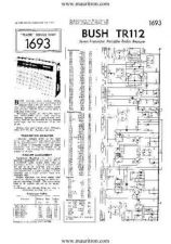 Buy BUSH TR112 VINTAGE WIRELESS SERVICE SHEETS by download Mauritron #328142