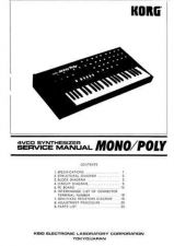 Buy Korg MonoPoly Service Manual by download Mauritron #320815