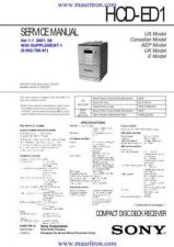 Buy SONY. HCD-ED1 Supplement by download Mauritron #321613
