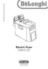 Buy De Longhi F24512CZ Fryer Operating Guide by download Mauritron #316411