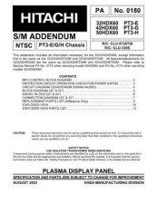 Buy Hitachi 32HDX60 PT3-E- Service Manual by download Mauritron #287765