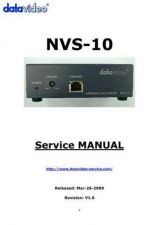 Buy Datavideo NVS-10 Service Manual by download Mauritron #324942