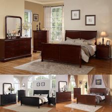 Buy Beds Bedroom Dresser Queen King Bed sets 4 Piece Bedroom Furniture In 3 Colors