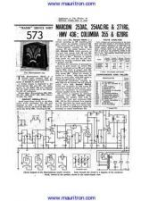 Buy MARCONI. 254RG. Vintage. Service Information. Manual by download Mauritron #312534