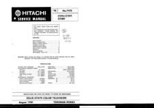 Buy Hitachi CT-1326-2 Service Manual by download Mauritron #289378