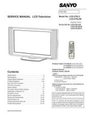 Buy Sanyo LCD-27XL2 Service Manual by download Mauritron #323715