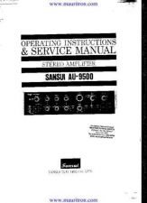 Buy Sansui AU9500 Manual by download Mauritron #321088